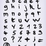 Doodle Complete Hand Drawn Alphabet Set — Stock Vector