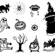 Horror And Halloween Icons Set — Stock Vector