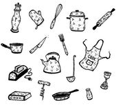 Kitchenware And Cook Ustensils Set — Stock Vector