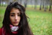Brownhair young girl — Stock Photo