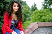 Brownhair young girl — Foto Stock