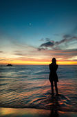 Atardecer en el Caribe — Stock Photo