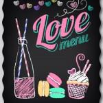Love. Menu on the chalkboard — Stock Vector #34466503