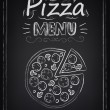 Pizza. Menu on the chalkboard — Stock Vector #34466507