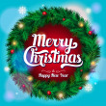 Christmas wreath. Vector — Stock Vector