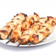 Barbecue chicken kebabs — Stock Photo #34253317