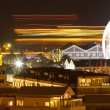 Panoramic night shoth towards cape town harbour waterfront — Stock Photo