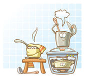 Cooking saucepans in the kitchen — Vector de stock