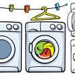 washer machine  — Imagen vectorial