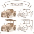 Old vintage car — Stock Vector