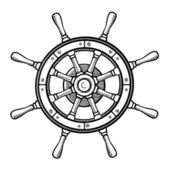Captain's wheel — Stock Vector