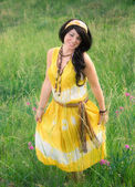 Happy Bohemian Woman — Stock Photo