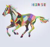 Pferd Symbol für Neujahr 2014 trendige Hipster Stil Vektor — Stockvektor