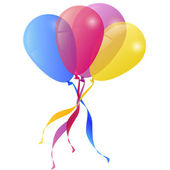 Vector Background with Balloons Holiday Greeting card — Stock vektor