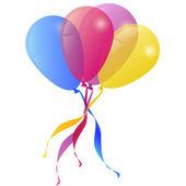 векторный фон с шарами праздника поздравительной открытки — Cтоковый вектор