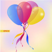 Vector Background with Balloons Holiday Greeting card — Stock Vector