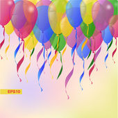 Vector Background with Balloons Holiday Greeting card — Wektor stockowy