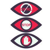 Total Control Spy surveillance technology Vector Icons — Stock Vector