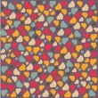Love Heart Background Pattern Valentines day Greeting card trendy colors Romantic relationship concept in vector — Imagens vectoriais em stock