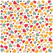 Love Heart Background Pattern Valentines day Greeting card trendy colors Romantic relationship concept in vector — Stock Vector