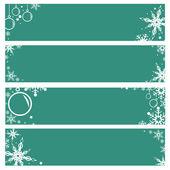 ベクトルは、雪のクリスマスと新年の休日とバナーの背景を設定 — ストックベクタ