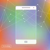 Transparent Mobile Smart Phone new Digital Technology Futuristic concept creative design in vector — Stock Vector
