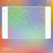 Transparent Tablet PC new Digital Computer Technology Futuristic concept creative design horizontal in vector — Stock Vector