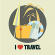 Travel icon flat design illustration in vector — Stock Vector
