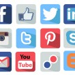 Social Media icons set Illustration most popular of the world — Stock Vector #39978393