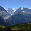 Mountains, Mon Blanc, lake Blanc, Chamonix, France — Stock Photo