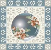 Christmas decorations. Greeting card. — Vector de stock