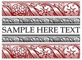 Vector flower border for design. Elegant frame for the text — Stock Vector