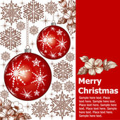 Vector. Christmas composition with space for text. Greeting card. — Stock Vector