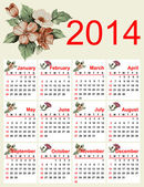 Beautiful calendar for 2014. — Stock Vector