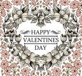 Valentine's Day Card. — Stockvektor