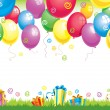Birthday ballons — Vector de stock