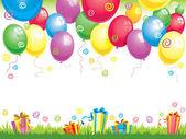Birthday ballons — Stock Vector