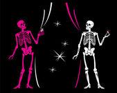 Skeletons — Stock Vector