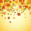 Autumn background with leaves vector illustration — Stockvektor