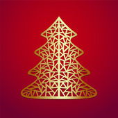 Stylized Christmas tree.Vector illustration. — Stock Vector