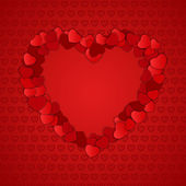 Valentine's Day Card. — Vector de stock