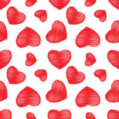 Seamless background red hearts — Stok Vektör