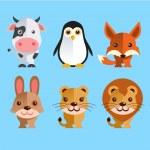 Funny Animals Set — Stock Vector #34242713