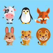 Funny Animals Set — Stock Vector