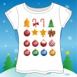Christmas Set T-shirt — Stock Vector