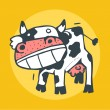 Stock Vector: Mad Cow