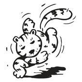 Běžící kočka — Stock vektor
