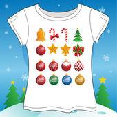 Christmas Set T-shirt — Stock vektor