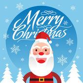 Noel baba noel tebrik kartı 3 — Stok Vektör