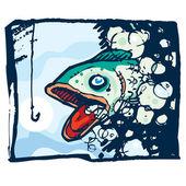 Rybí příběh — Stock vektor